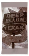 Deep Ellum Texas Hand Towel by Jonathan Davison