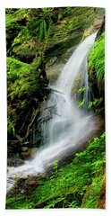 Deep Forest Falls Hand Towel