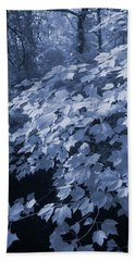 Deep In The Blue Forest Hand Towel