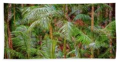 Hand Towel featuring the photograph Deep In The Forest, Tamborine Mountain by Dave Catley