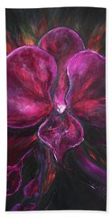 Deep Purple Orchid Bath Towel