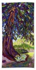 Deep Shade In The Sunken Garden Hand Towel by Polly Castor