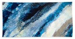 Deep Turquoise Geode Slice Bath Towel