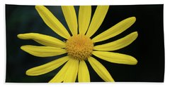 Deep Yellow Flower Hand Towel