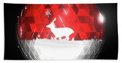 Deer Bauble - Frame 103 Bath Towel