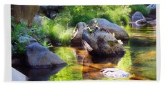 Deer Creek Ferns Bath Towel