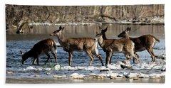 Deer Crossing 2 Hand Towel