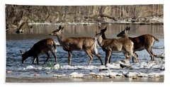 Deer Crossing 2 Bath Towel