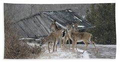 Deer Crossing Ahead Bath Towel