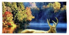 Deer In Autumn Hand Towel