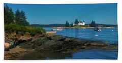 Deer Island Maine Bath Towel