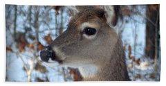 Deer Portrait Hand Towel