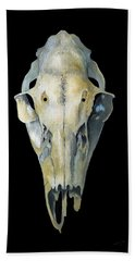 Deer Skull Aura Bath Towel