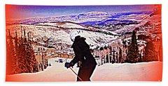 Deer Valley Utah Powder Bath Towel by Richard W Linford