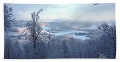 Deer Valley Winter View Bath Towel by Meta Gatschenberger