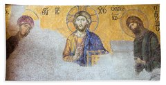 Deesis Mosaic Of Jesus Christ Bath Towel