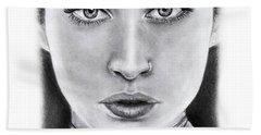 Lauren Jauregui Drawing By Sofia Furniel  Bath Towel