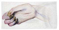 Deformed Hand, Division Of Median Nerve Bath Towel