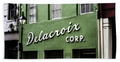Bath Towel featuring the photograph Delacroix Corp., New Orleans, Louisiana by Chris Coffee