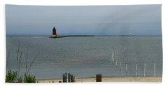 Delaware Breakwater East End Light Beach View Bath Towel