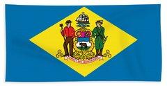 Delaware State Flag Bath Towel