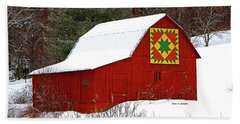 Delectable Mountains Snow Hand Towel