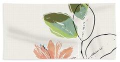 Delicate Flower- Art By Linda Woods Bath Towel