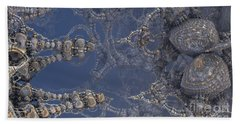 Hand Towel featuring the digital art Delicate Fractal by Melissa Messick
