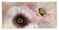 Delicate Pastel Poppies Bath Towel