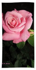 Delicate Rose Hand Towel