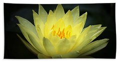 Delicate Water Lily Bath Towel