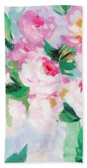 Bath Towel featuring the mixed media Delicate by Writermore Arts