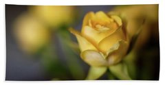 Bath Towel featuring the photograph Delicate Yellow Rose  by Terry DeLuco
