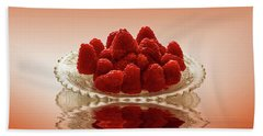 Delicious Raspberries Bath Towel by David French