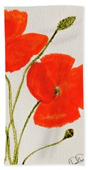 Delightful Poppies Bath Towel