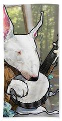 Deliverance Bull Terrier Caricature Art Print Bath Towel