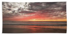 Delmar Beach San Diego Sunset Img 1 Hand Towel