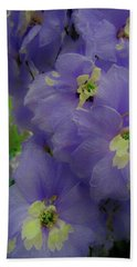 Delphinium Blues Bath Towel