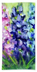 Delphiniums Mixed Bath Towel
