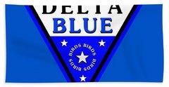 Hand Towel featuring the digital art Delta Bluebirds by Dave Luebbert