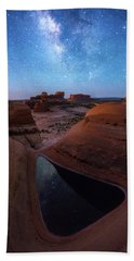 Hand Towel featuring the photograph Delta Night by Dustin LeFevre