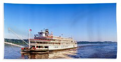 Delta Queen Steamboat On Mississippi Hand Towel
