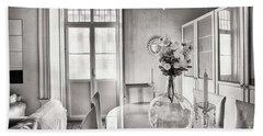 Hand Towel featuring the photograph Demijohn And Window Cadiz Spain by Pablo Avanzini