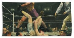 Dempsey And Firpo Boxing - George Bellows  Hand Towel