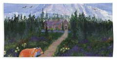Bath Towel featuring the painting Denali by Jamie Frier