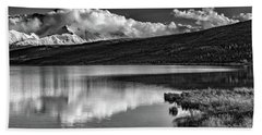 Denali Reflections In Black And White Bath Towel