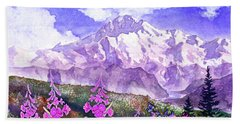 Denali With Fireweed Hand Towel