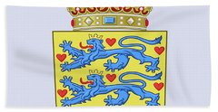 Denmark Coat Of Arms Bath Towel by Movie Poster Prints