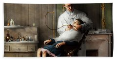 Bath Towel featuring the photograph Dentist - Good Oral Hygiene 1918  by Mike Savad