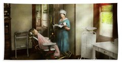 Bath Towel featuring the photograph Dentist - Patients Is A Virtue 1920 by Mike Savad